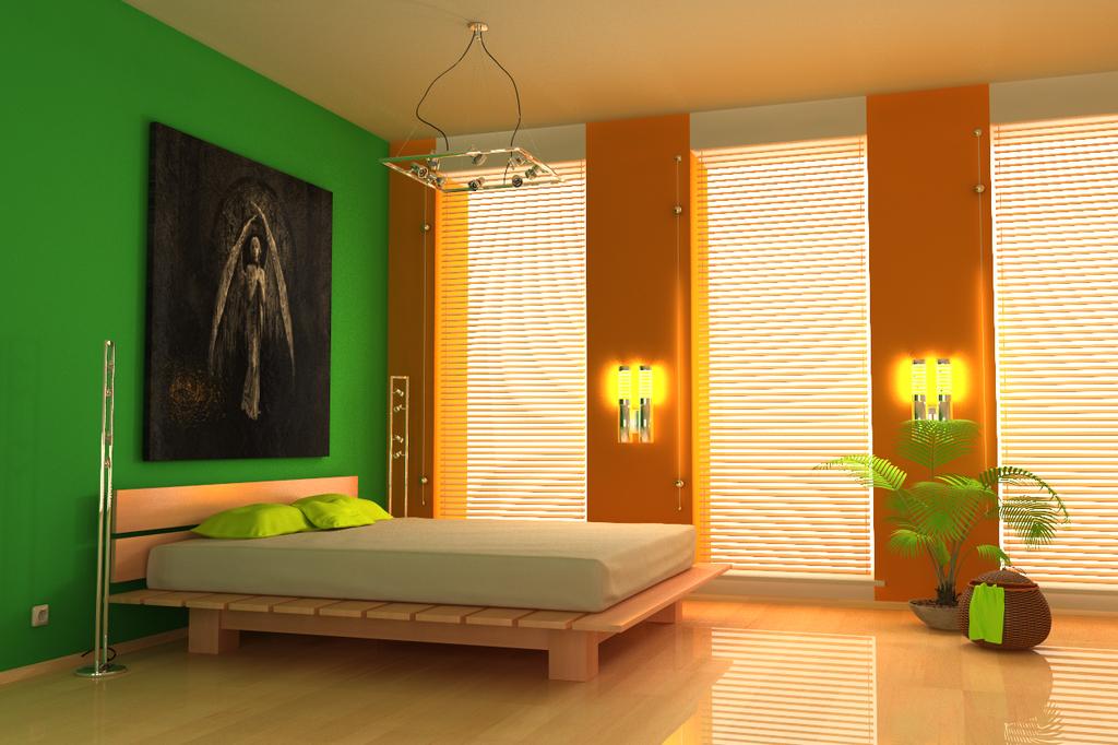 طلاء غرف النوم مودرن