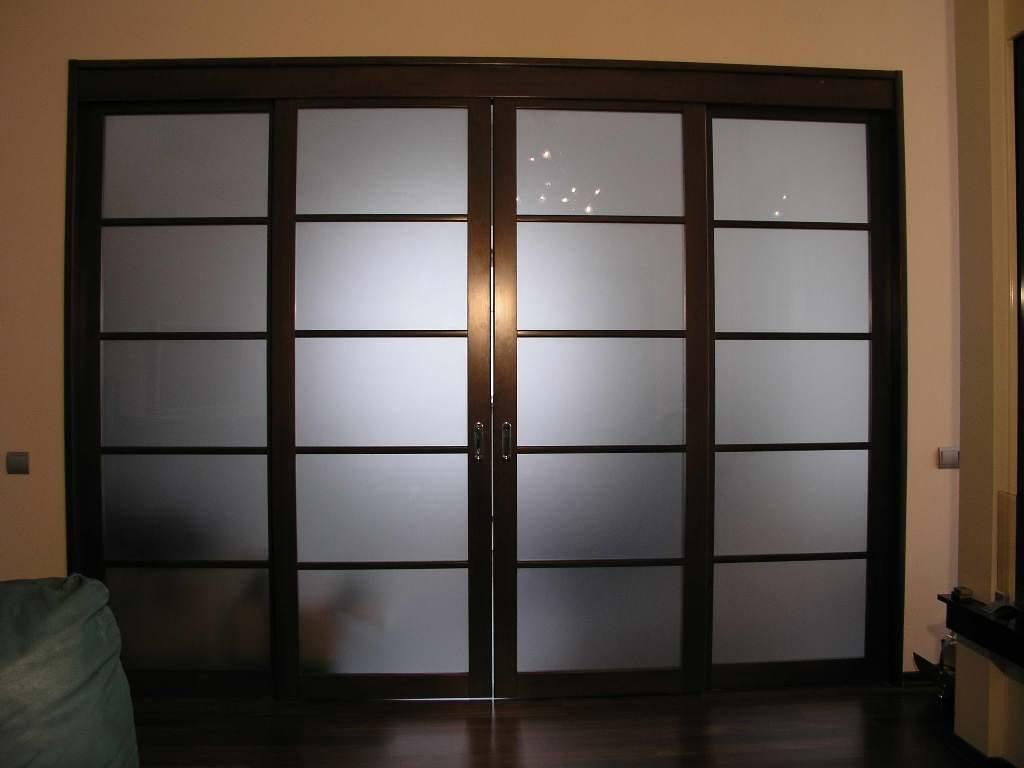 ابواب لغرف النوم زجاج مودرن