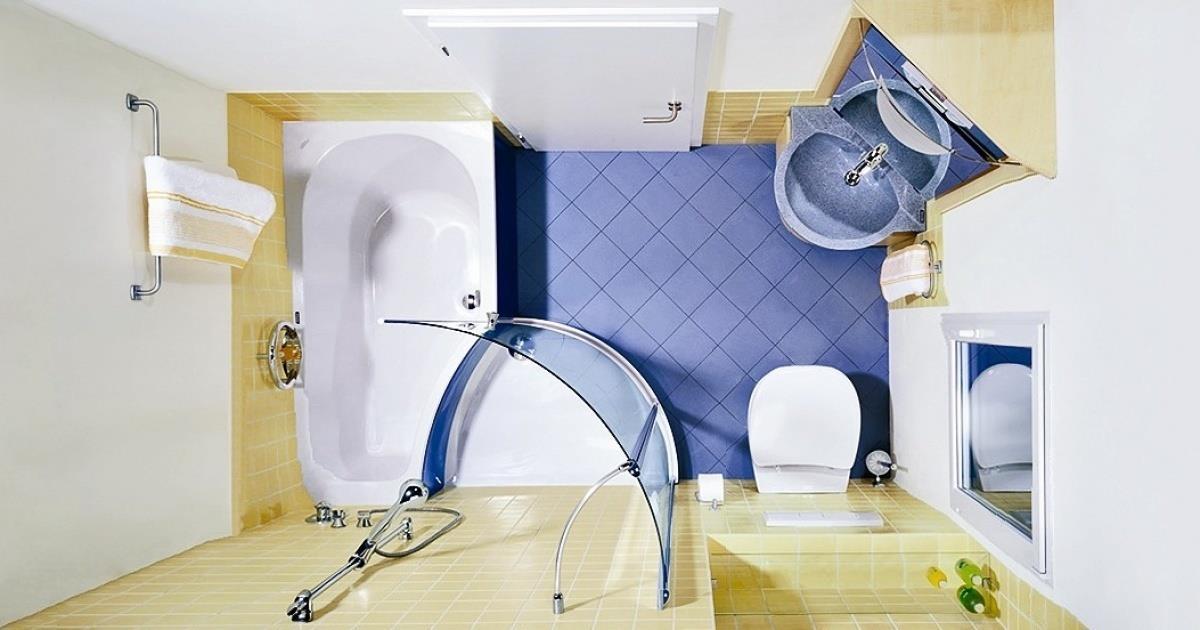 تصاميم حمامات صغيرة جدا