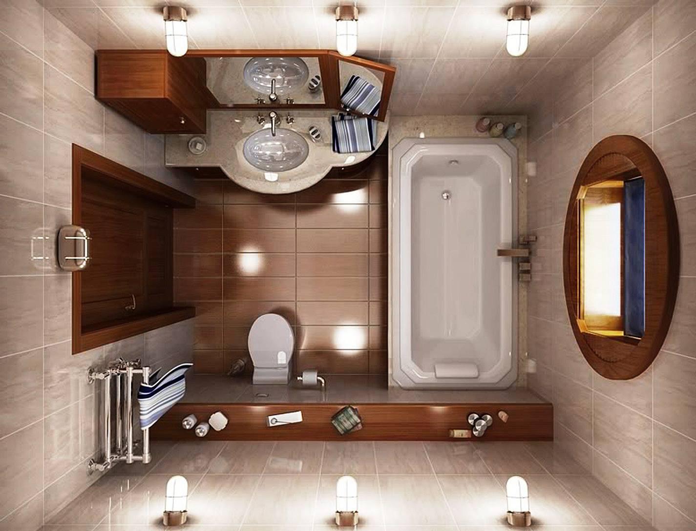 ديكورات لحمامات صغيرة جدا وبسيطة