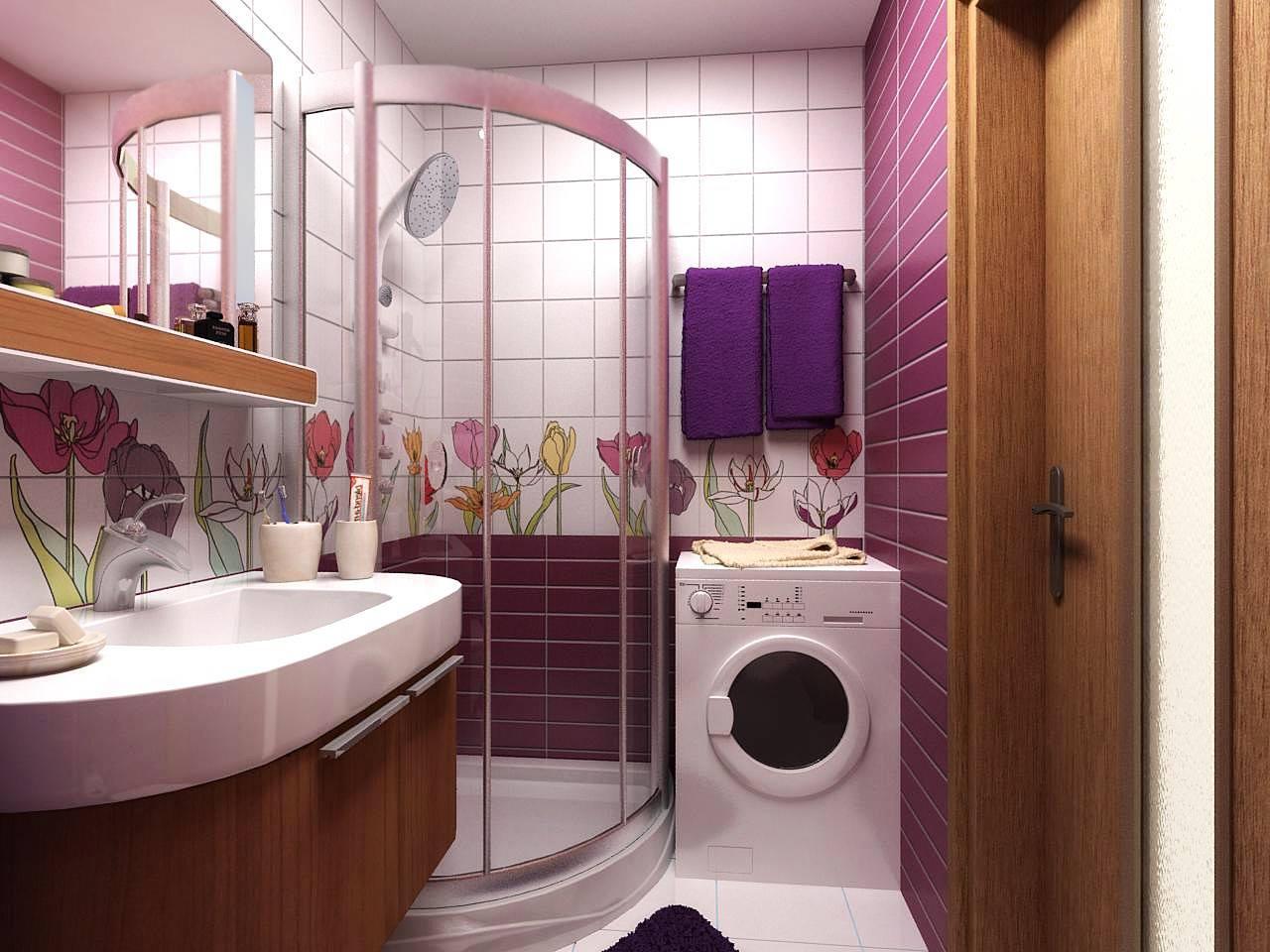 ديكورات حمامات صغيرة المساحة