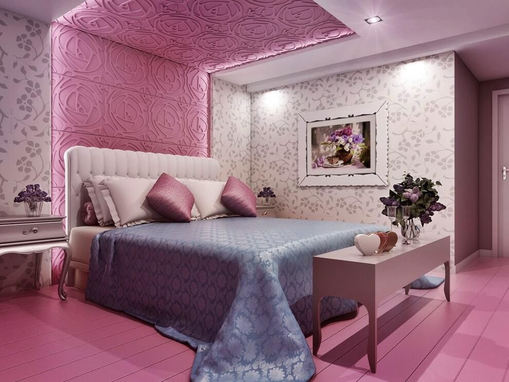 ديكور جبس غرف نوم رومانسية ناعمة