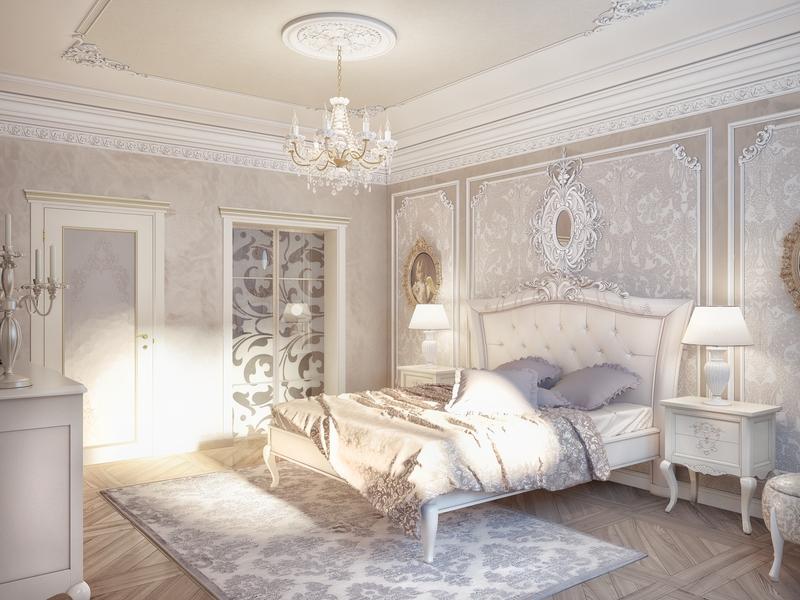 ديكورات جبس غرف نوم للعرسان رومانسية ناعمة