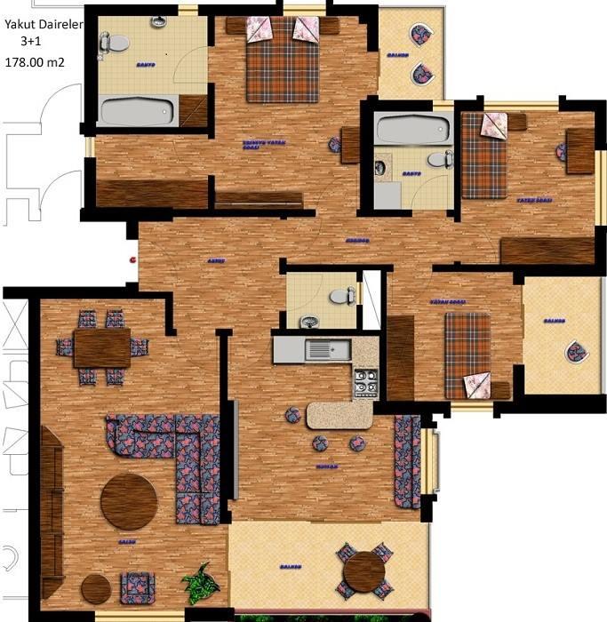 افكار لمخططات بيوت