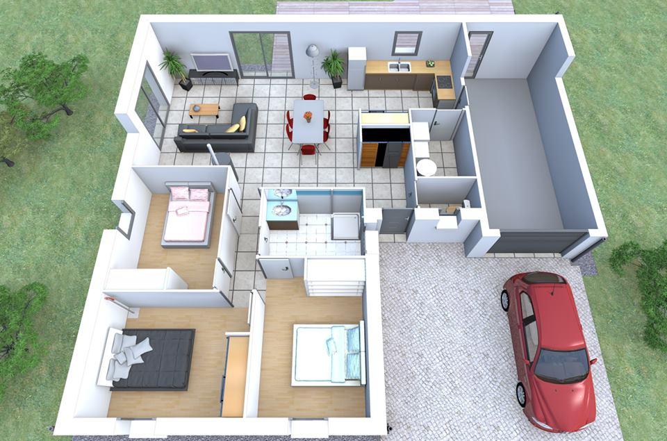 Plan De Maison A Etage 3d : مخططات بيوت وخرائط منازل متر و طابق واحد عرب