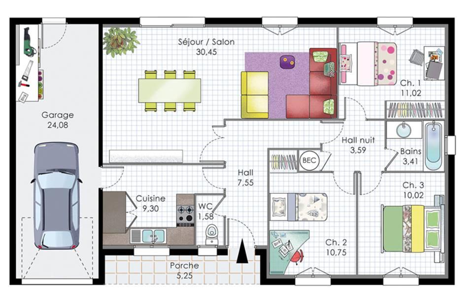 مخطط بيوت طابق واحد