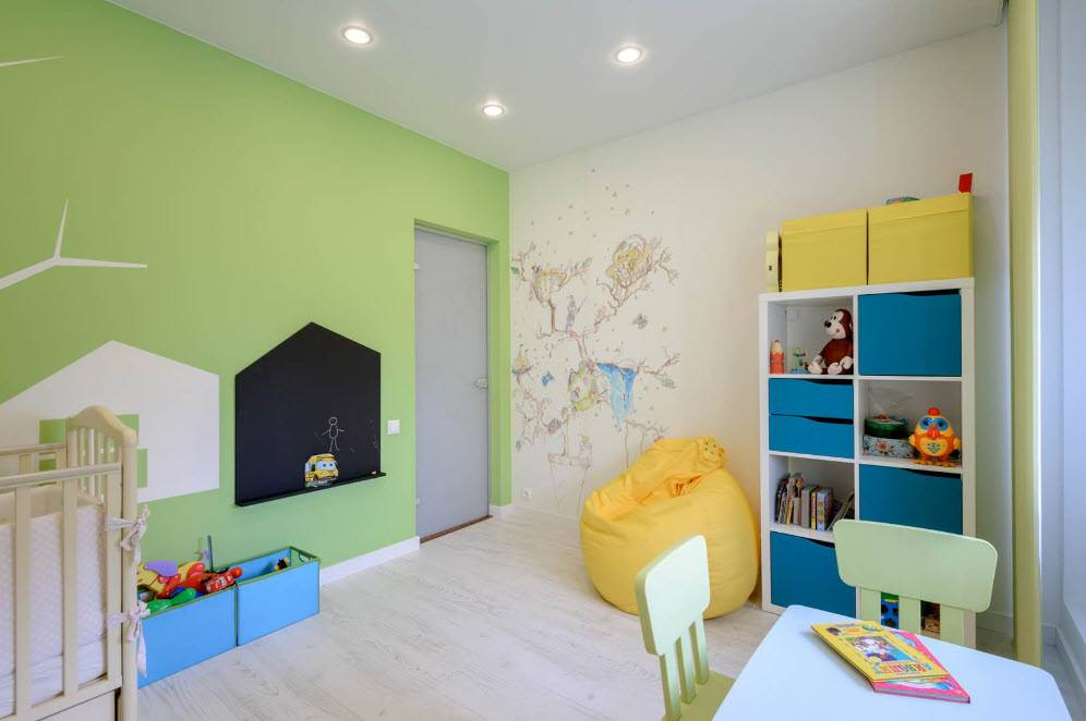 الوان حوائط غرف اطفال حديثة ورسومات مودرن 2018 عرب ديكور