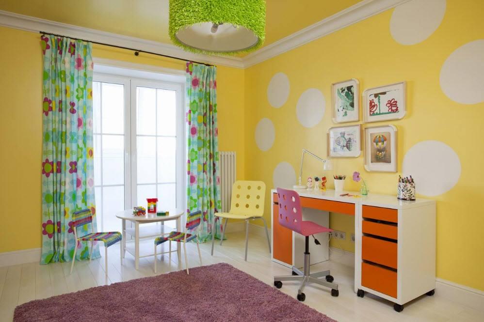 الوان حوائط غرف اطفال أصفر