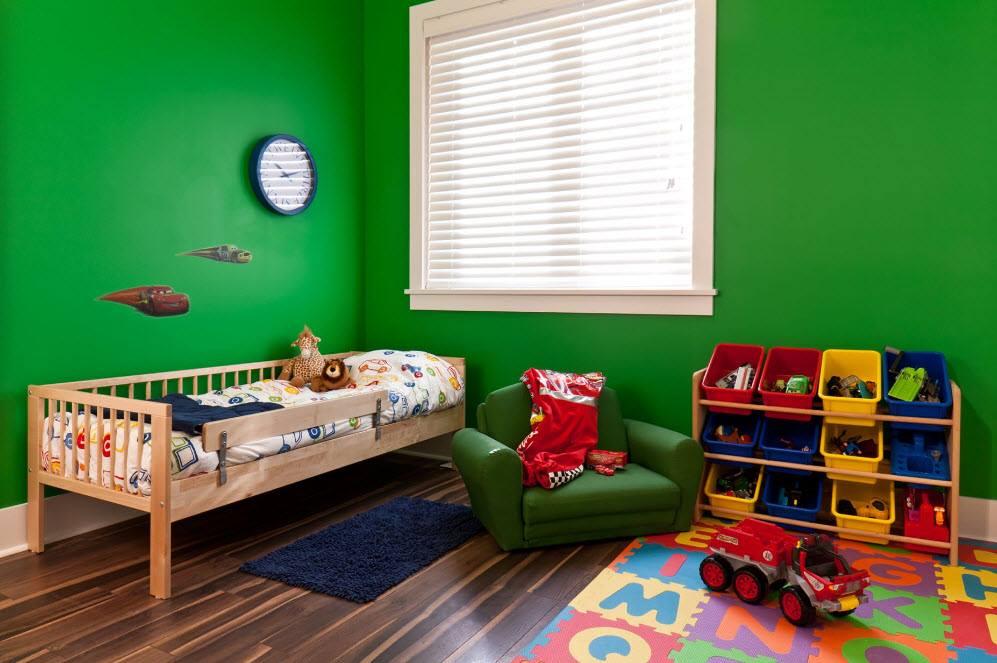 الوان حوائط غرف اطفال أخضر
