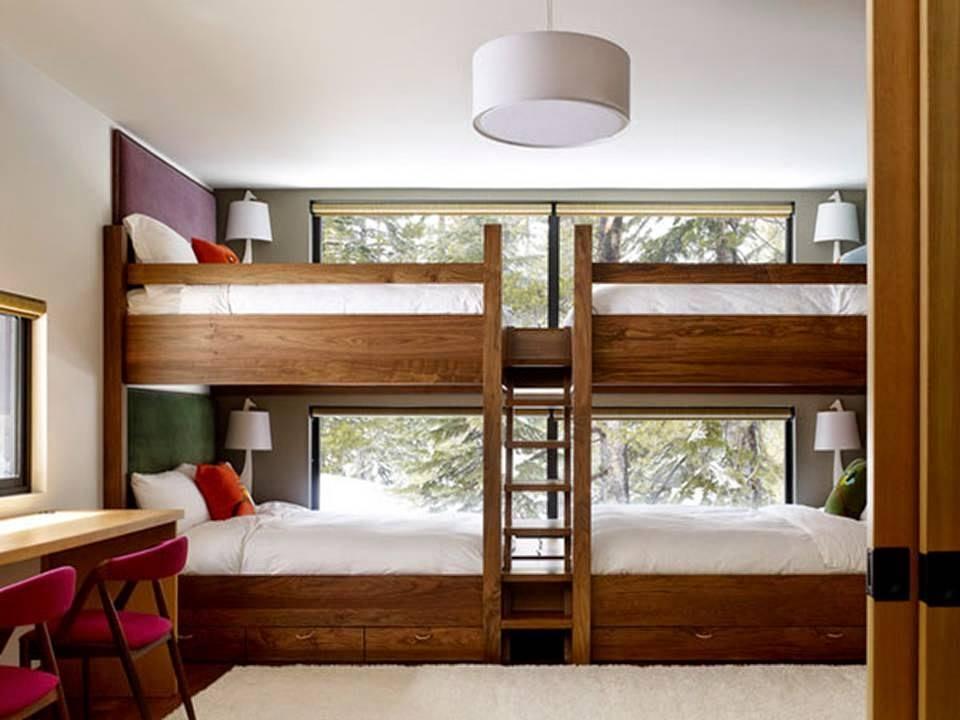 غرف نوم اطفال بسريرين فوق بعض