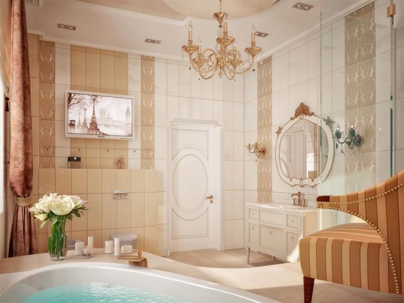 تصاميم حمامات فخمة لفلل من الداخل