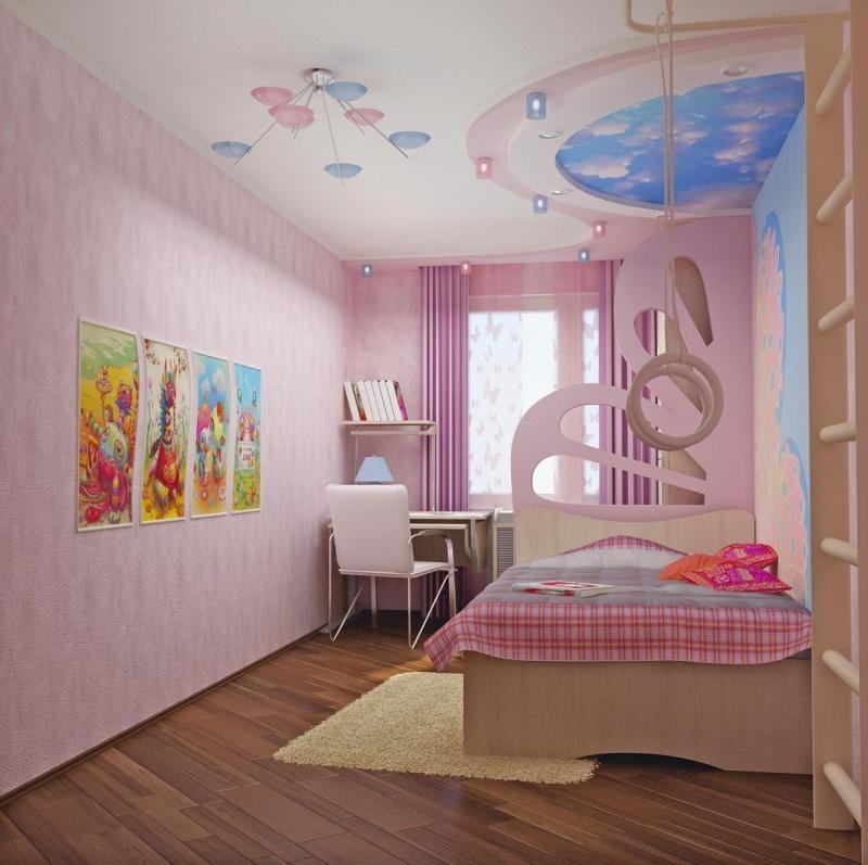 ديكورات جبس لغرف نوم اطفال بنات