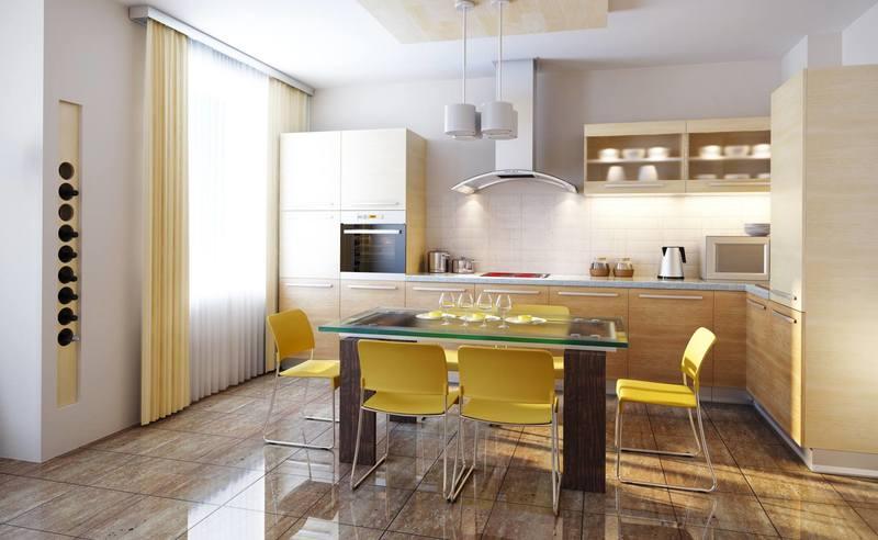 افكار لمطابخ صغيرة و مفتوحة على غرفة الجلوس