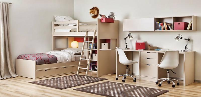 غرف نوم للاطفال للمساحات الصغيرة