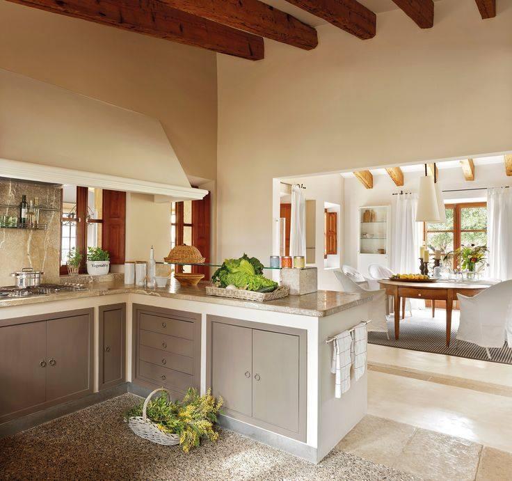 احدث تصاميم المطابخ المفتوحة على غرف المعيشة