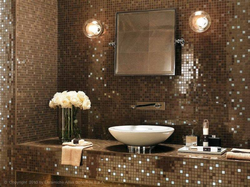 تصاميم سيراميك حمامات صغيرة فسيفساء مودرن بألوان جميلة عصرية عرب ديكور