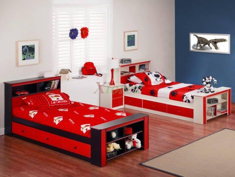 غرف نوم اطفال بسريرين منفصلين للمساحات الصغيرة