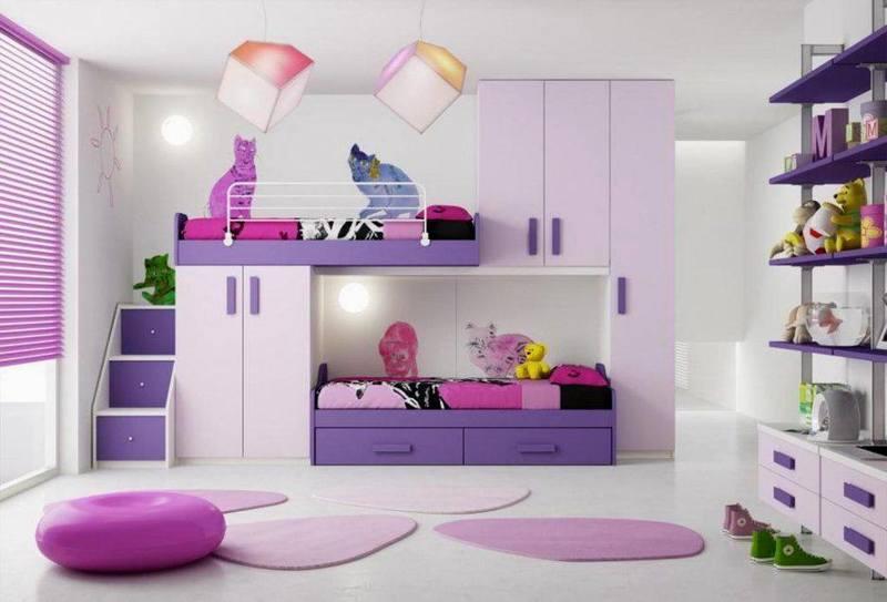 غرف نوم صغيرة المساحة للاطفال