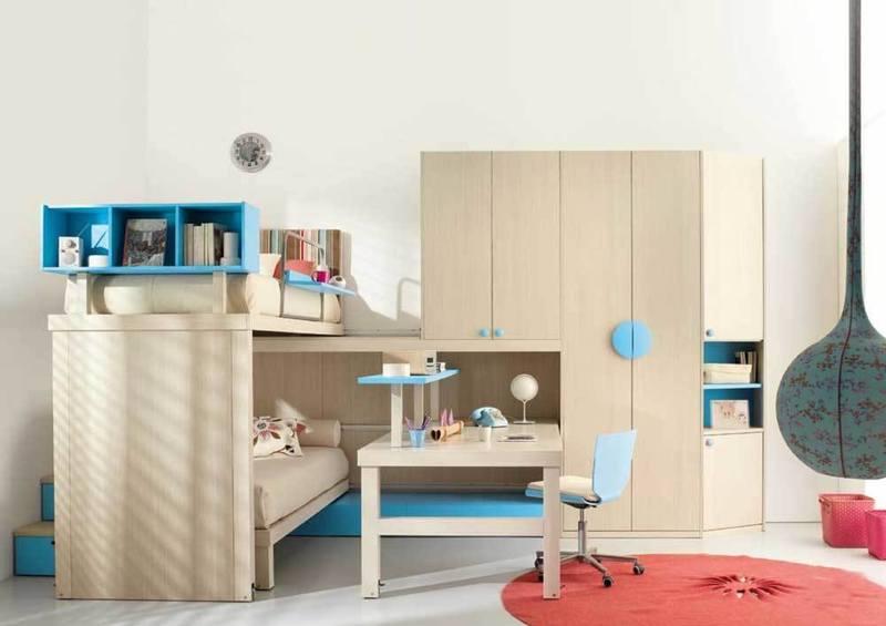 غرف نوم اطفال للمساحات الصغيرة