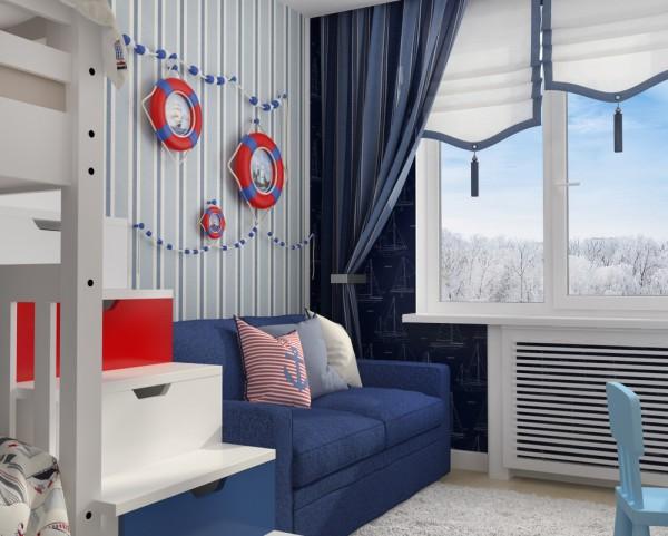Nautical Bedroom Interior And Decorating Themes: 4 تصاميم منازل صغيرة 50 متر للمساحات الصغيرة
