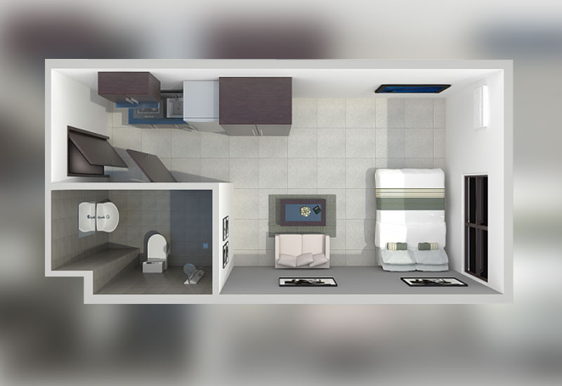 12 for 8 sqm room design