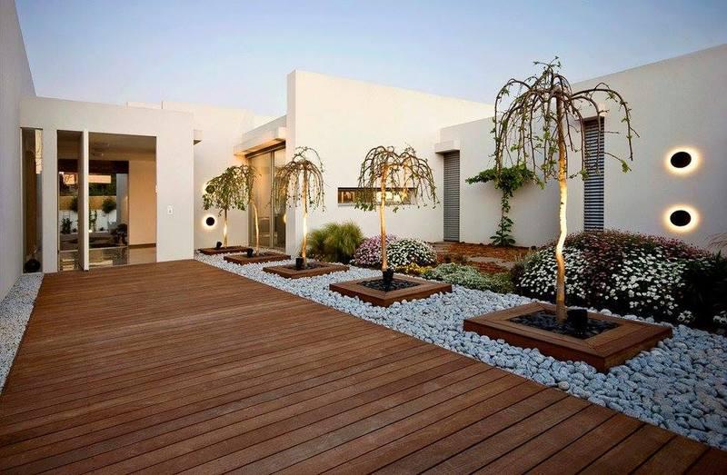 اشكال مودرن لحدائق منزلية صغيرة وبسيطة