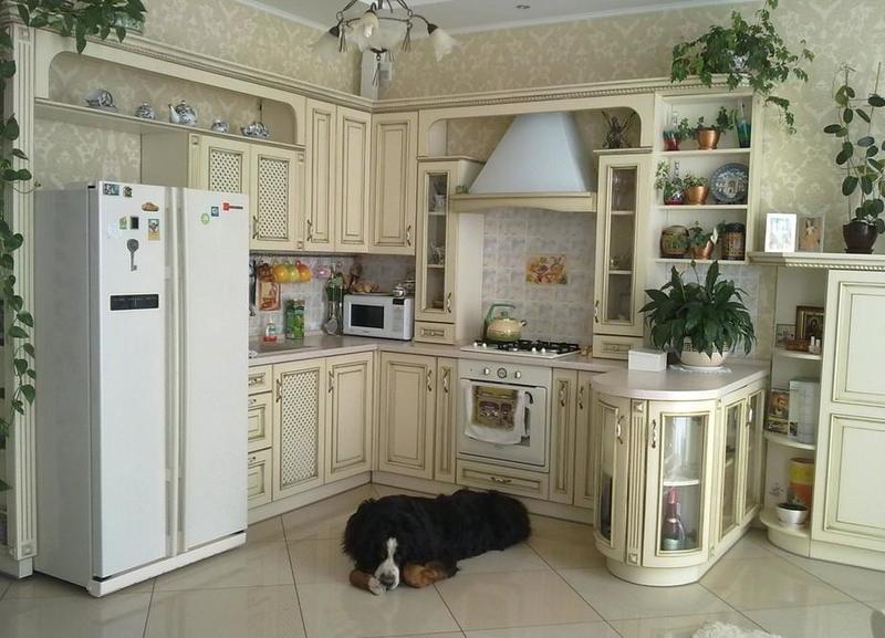 ديكورات لمطبخ مفتوحة على الصالون