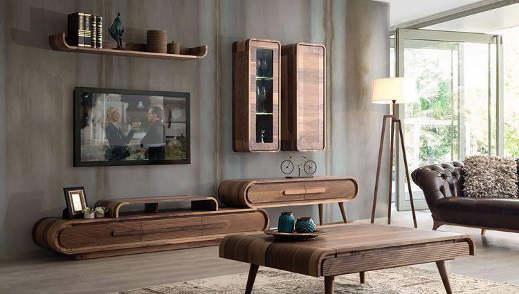 مكتبات خشبية مودرن للتليفزيون