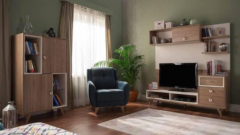 ديكور مكتبة تلفزيون مودرن