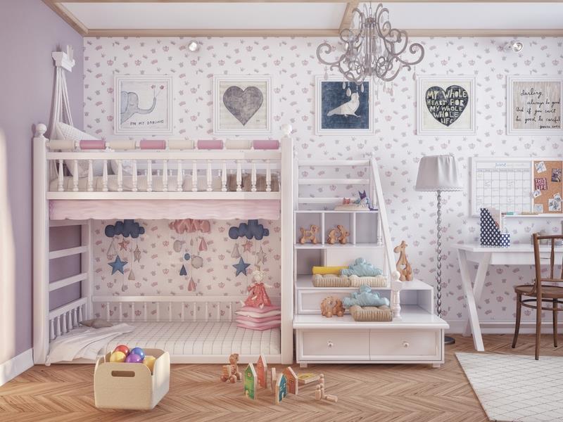ديكور منازل بسيطة نوم الأطفال 1